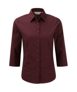 Camisa manga 3/4 vino