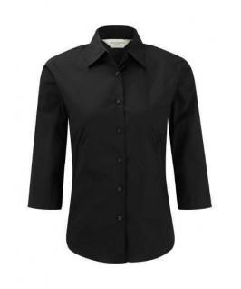 Camisa manga 3/4 negra