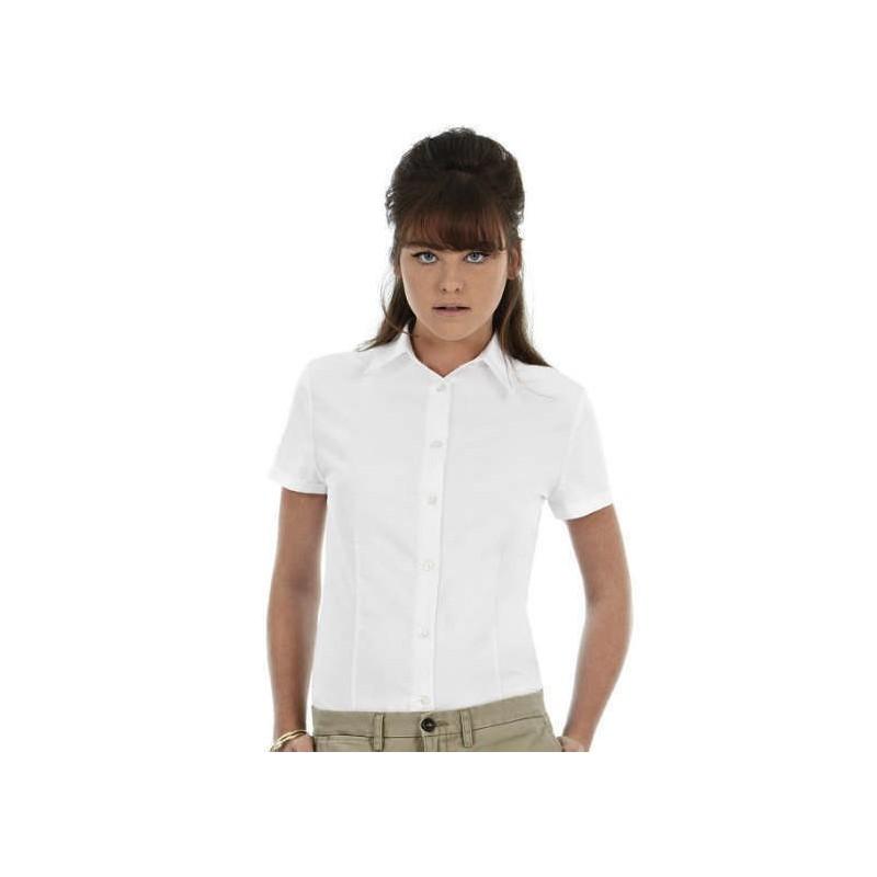 Camisa manga corta blanca