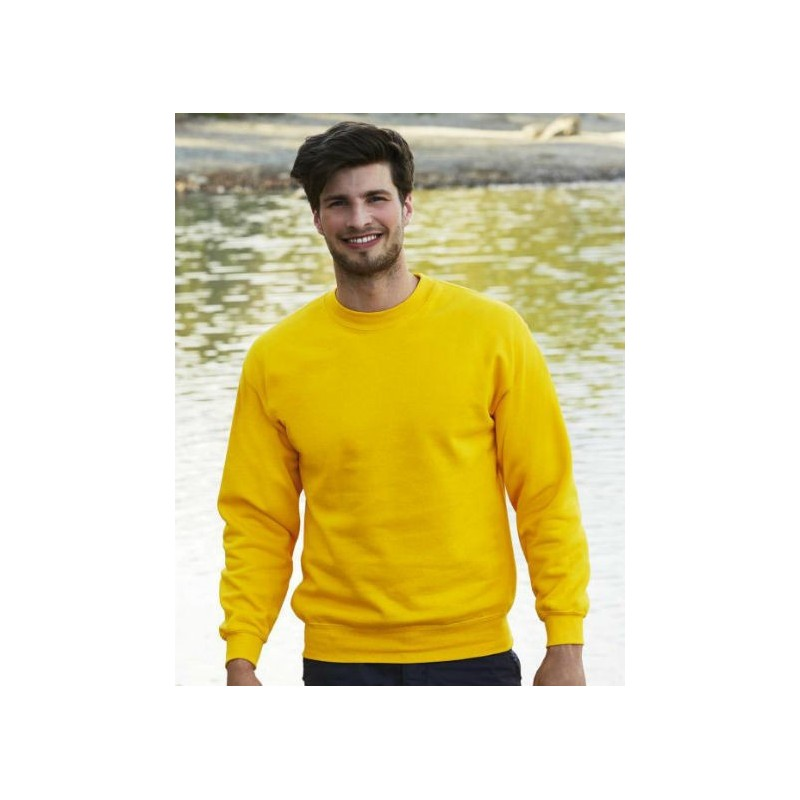 Sudadera cuello redondo amarillo