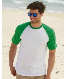 Camiseta baseball blanco con verde