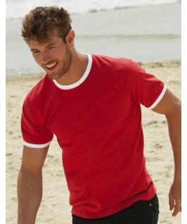 Camiseta ringer rojo con blanco