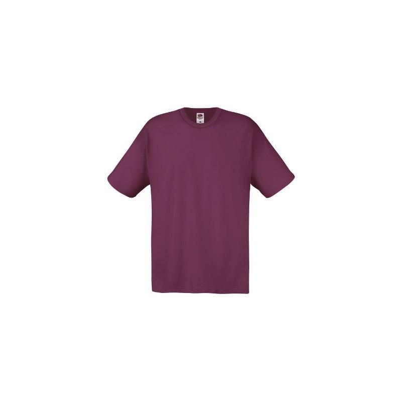 Camiseta manga corta granate