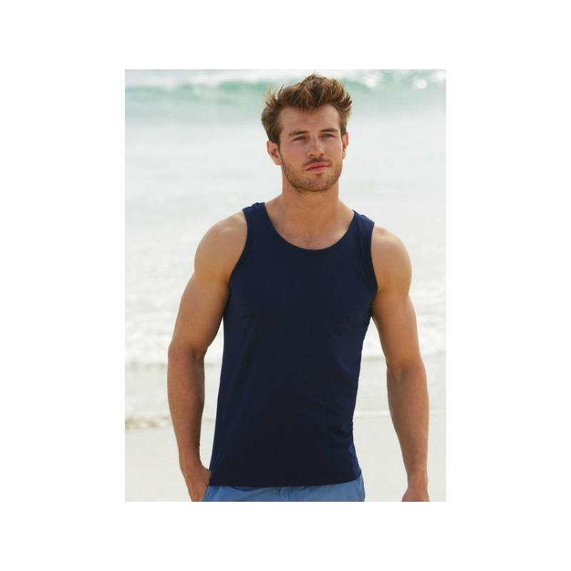 Camiseta tirantes azul marino oscuro