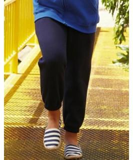 Pantalón con puño azul marino oscuro
