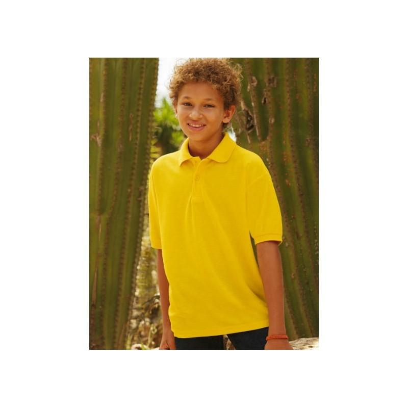Polo manga corta amarillo oro