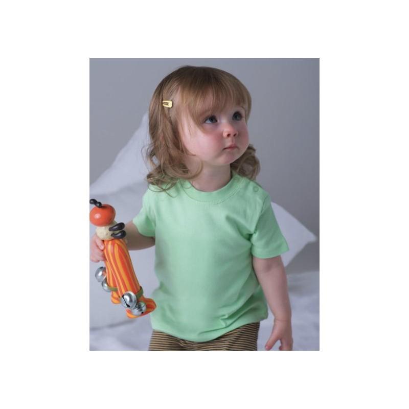 Camiseta manga corta verde pastel