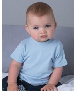 Camiseta manga corta azul pastel
