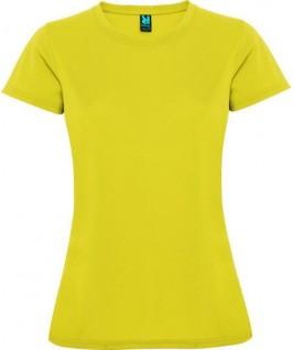 Camiseta técnica manga corta amarillo