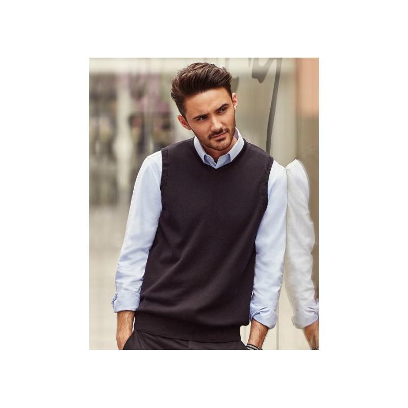 diseño novedoso último estilo de 2019 Nueva York Chaleco Hombre de Punto y Cuello Pico de Russell