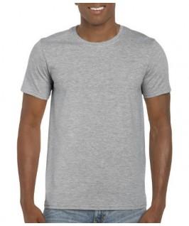 Camiseta manga corta gris jaspeado
