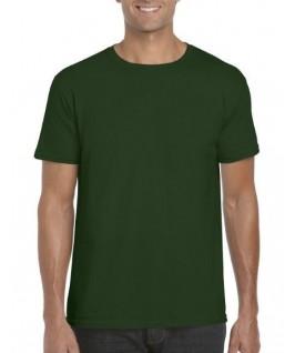 Camiseta manga corta verde botella