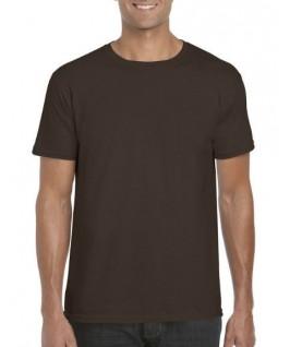 Camiseta manga corta marrón chocolate