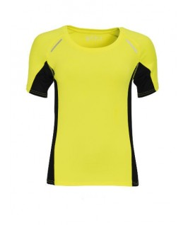Camiseta Running amarillo fluorescente