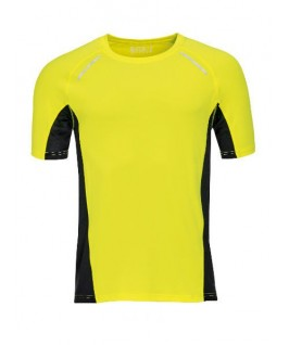 Camiseta running amarillo fluorescente