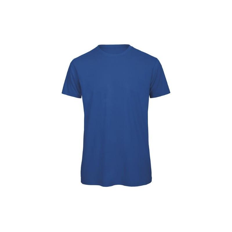 Camiseta orgánica azul eléctrico