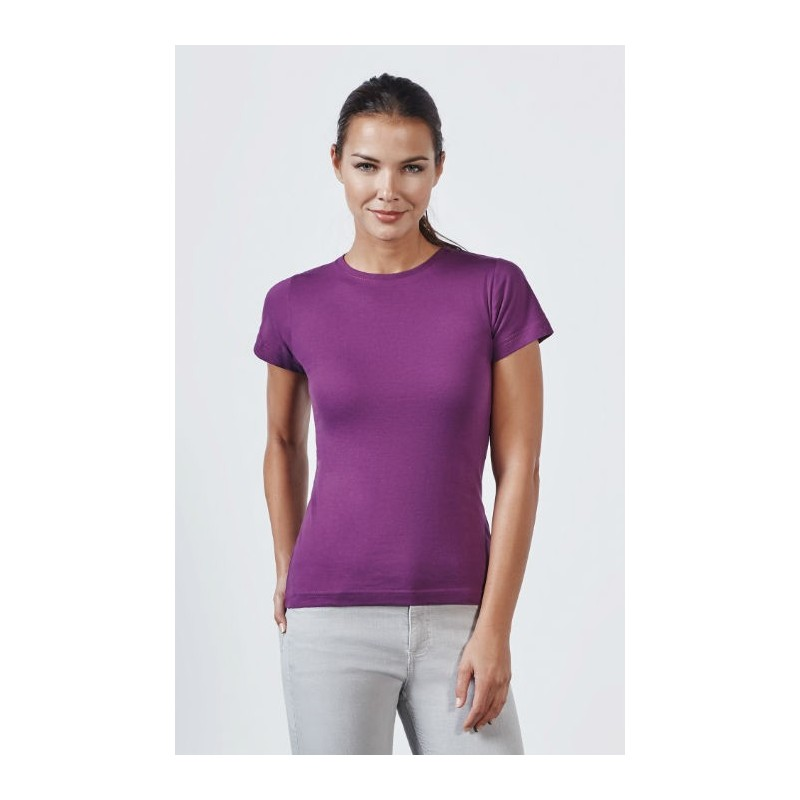 2f115571a ... Camiseta Básica Manga Corta Mujer Jamaica de Roly. Camiseta manga corta  lila