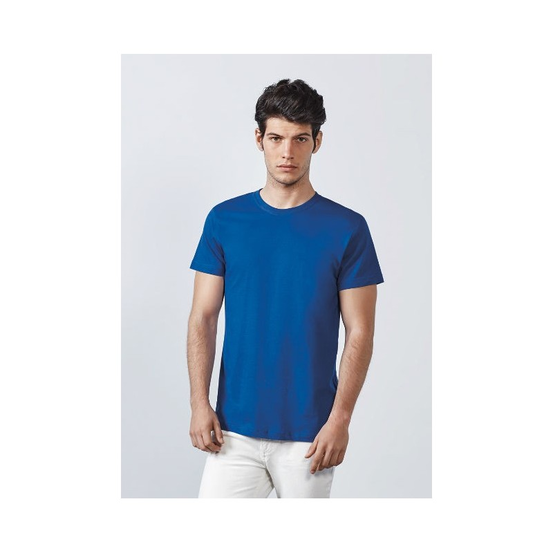 Camiseta manga corta azul eléctrico