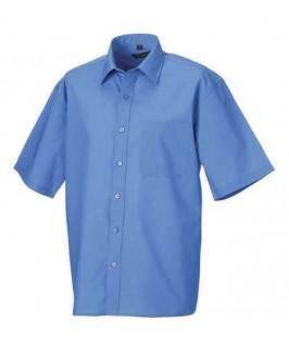 Camisa manga corta azul