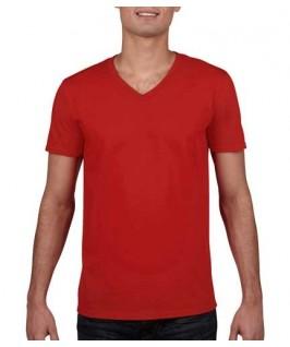 Camiseta Cuello V roja
