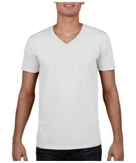 Camiseta Cuello V blanca