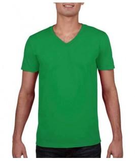 Camiseta Cuello V verde