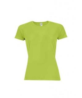 Camiseta técnica verde manzana