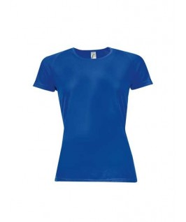 Camiseta técnica azul eléctrico