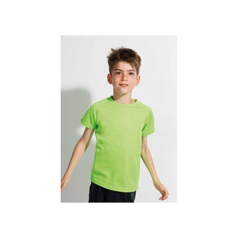 Camiseta técnica verde fluorescente