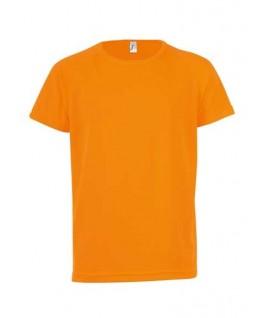 Camiseta técnica naranja fluorescente