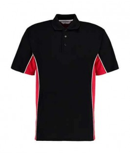Polo deportivo negro con rojo