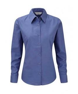Camisa oxford azul eléctrico