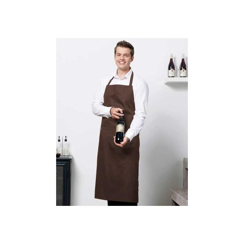 Delantal Peto con bolsillo marrón
