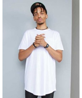 Camiseta larga orgánica blanca