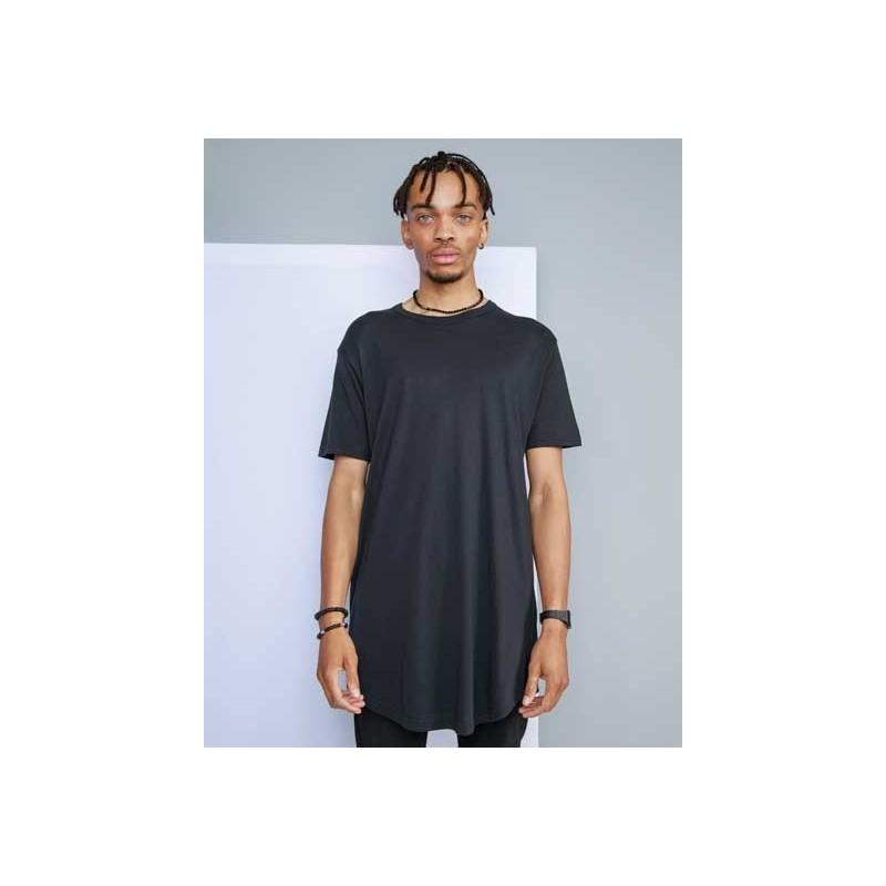 Camiseta larga orgánica negra