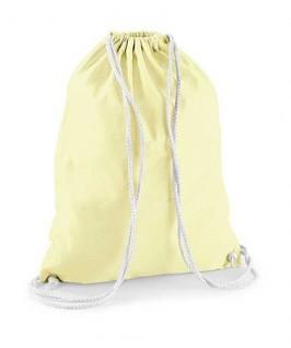 Bolsa / Mochila algodón amarillo suave