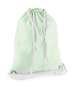Bolsa / Mochila algodón verde pastel