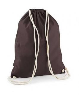 Bolsa / Mochila algodón marrón chocolate