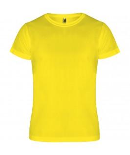 Camiseta deportiva Amarillo fluorescente