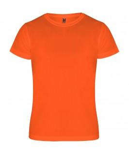 Camiseta deportiva Naranja fluorescente