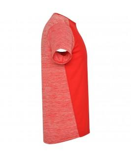 Camiseta técnica de manga corta Zolder de Roly roja detalle lateral