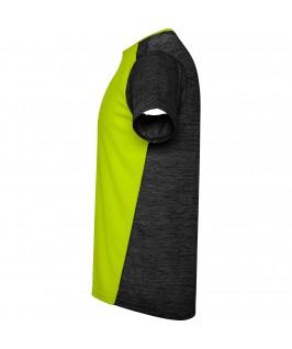 Camiseta técnica de manga corta Zolder de Roly Amarillo y negro lateral