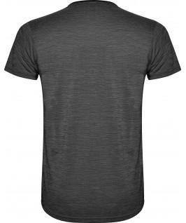 Camiseta técnica de manga corta Zolder de Roly negra detalle trasera