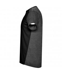 Camiseta técnica de manga corta Zolder de Roly negra detalle lateral