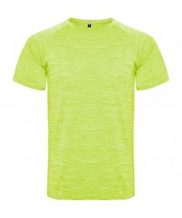 Camiseta deportiva técnica Austin de Roly amarilo fluorescente
