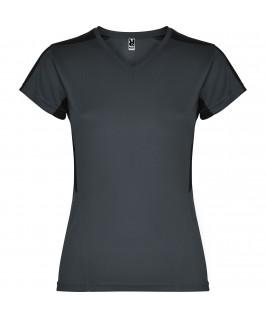 Camiseta técnica gris oscuro con negro