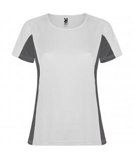 Camiseta técnica Shanghai Blanco con gris