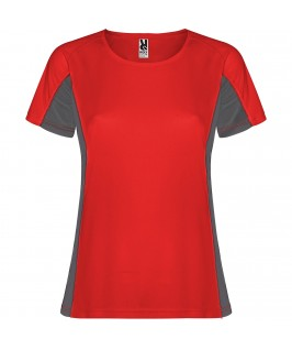 Camiseta técnica Shanghai Rojo con gris