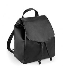 detalle mini mochila estilo cuero