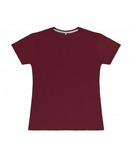 Camiseta color granate